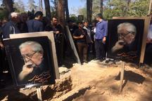 پیکر مرحوم ابراهیم یزدی در بهشت زهرا به خاک سپرده شد