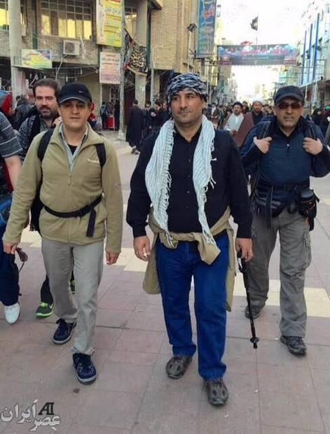 یاسر هاشمی در راهپیمایی اربعین کربلا + عکس