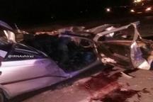4 کشته در تصادف خودروی پژو و تریلر در داراب فارس