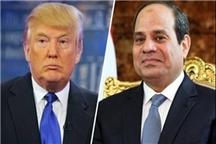 مکالمه تلفنی ترامپ و السیسی درباره مقابله با تروریسم