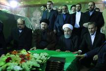 تجدید میثاق رییس جمهوری و اعضای هیئت دولت با آرمان های حضرت امام(س)