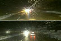 آغاز بارش برف در محور هراز و فیروزکوه  مسافران از سفرهای غیرضروری خودداری کنند