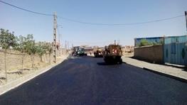 پروژه آسفالت روستای مسن آباد در حال اجراست