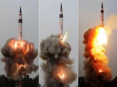 عکس/ آزمایش موشک بالستیک در هند