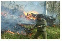 آتش سوزی جنگلهای آمل با بارش باران  فروکش کرد