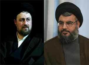 پیام تسلیت یادگار امام خمینی  به سید حسن نصرالله