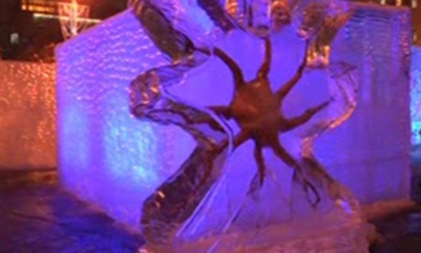 فیلم /  زیباترین کنده کاری بر روی یخ