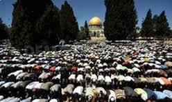 دومین نماز جمعه ماه رمضان در مسجد الاقصی+ تصاویر