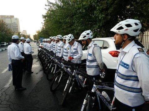 فعالیت پلیس دوچرخه سوار در تهران + عکس