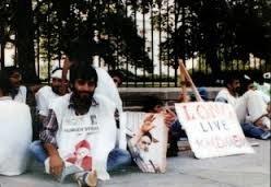 حمایت از امام خمینی (ره) در مقابل کاخ سفید