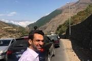 پیاده روی وزیر ارتباطات در جاده چالوس! + عکس