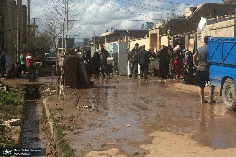 خسارات سیل به شهر کوهدشت و روستاهای بخش شاهیوند شهرستان چگینی