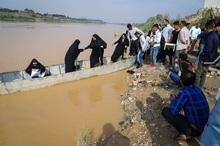 قایق، وسیله تردد ساکنان 45 روستای باوی