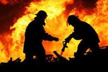 دختر بچه 11 ساله بر اثر آتش سوزی در زهک جان باخت