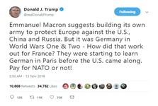 این بار حمله توهین آمیز ترامپ به ایده «ارتش اروپایی» ماکرون
