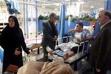 عیادت فرماندار کاشان از آسیب دیدگان حادثه تصادف اتوبوس
