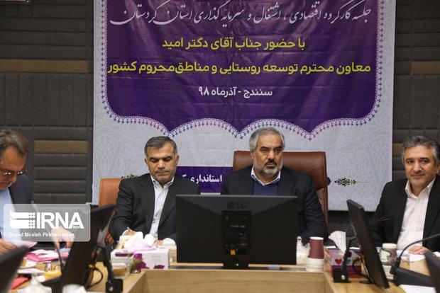 استاندار: سرانه درآمد در کردستان نصف میانگین کشوری است