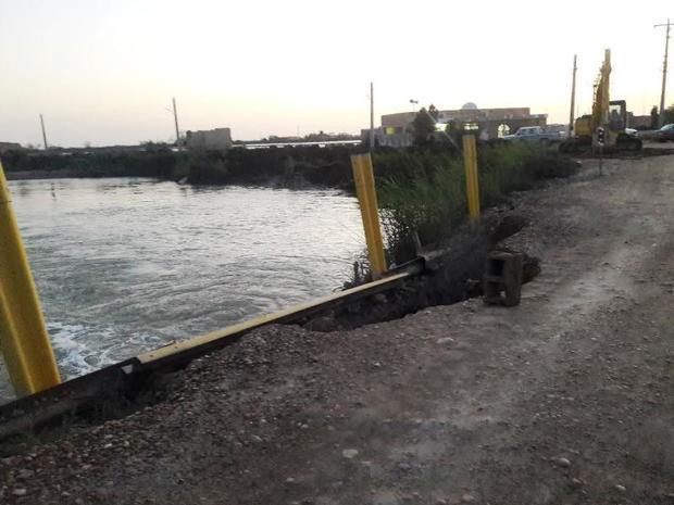 پل های آسیب دیده دهستان نوآباد اروندکنار بازسازی می شوند