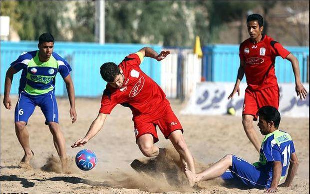 تیم فوتبال ساحلی گلساپوش یزد حریفان خود را در لیگ کشور شناخت