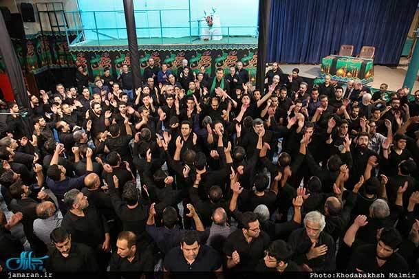 فیلم/ عزاداری هیئت امامزاده قاسم(ع) در حسینیه جماران