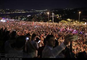 مراسم شب هفتم کشته شدگان کودتای نافرجام ترکیه + تصاویر
