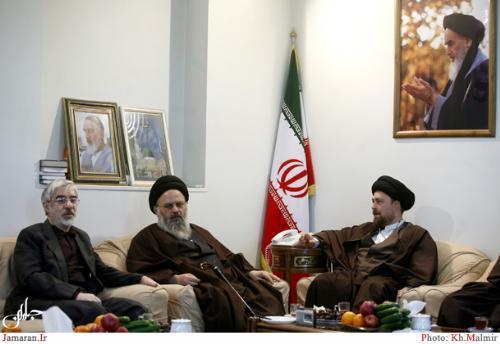 دیدار میر حسین موسوی و سید حسن خمینی در جماران