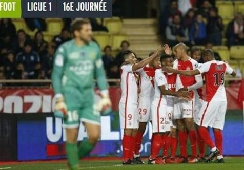 برتری پرگل موناکو در شب نیمهکاره ماندن بازی لیون