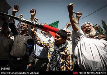 جشن پیروزی غزه همراه با تظاهرات اعلام همبستگی با مردم مظلوم فلسطین