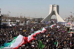 مسیرهای دهگانه راهپیمایی 22 بهمن در تهران اعلام شد
