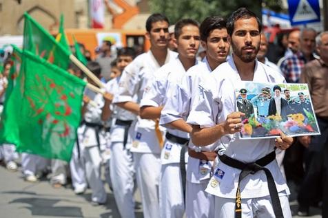 حضور با صلابت جامعه ورزش و جوانان کشور در راهپیمایی روز جهانی قدس