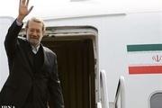 رئیس مجلس شورای اسلامی مشهد را به مقصد تهران ترک کرد