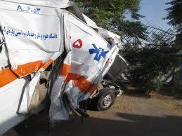 سه فوتی در حادثه ناگوار واژگونی آمولانس اعزامی به تهران