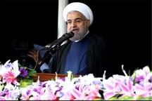 آغاز سخنرانی رئیس جمهور در جمع مردم خراسان شمالی