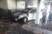 مهار آتش سوزی ساختمان 6 واحدی در نیشابور