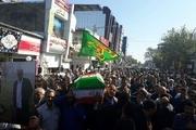 پیکر پدر شهیدان خنکدار در قائمشهر تشییع و خاکسپاری شد