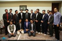 دیدار جمعی از دانشجویان شیعه و اهل تسنن دانشگاههای تهران با سید حسن خمینی