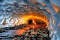 3 فوتی و مصدوم بر اثر ریزش غار یخی چما در کوهرنگ  هشدار به گردشگران
