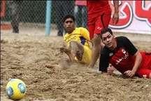 لیگ برتر فوتبال ساحلی  دربی اردکانی ها را ایفام سرام برد