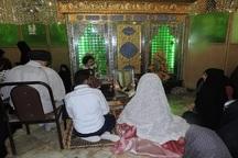 عقد ازدواج یک زوج در حرم امامزادگان آستارا برگزار شد