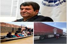 ارسال دوکامیون حامل کمکهای بخش خصوصی البرز به مناطق سیل زده گرگان و خرم آباد