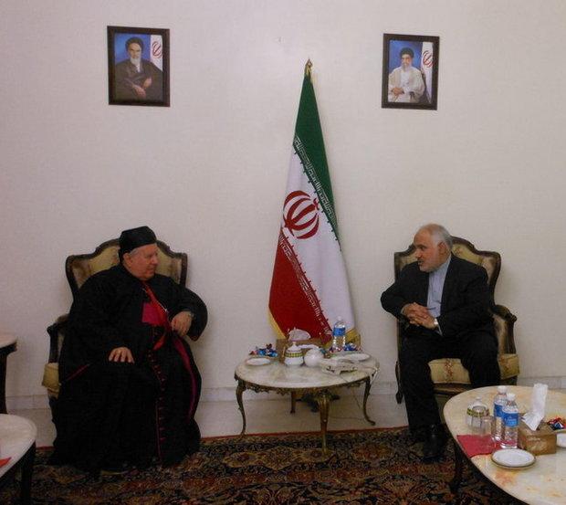 دیدار سراسقف بیروت با سفیر ایران در لبنان