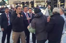 درگیری در اطراف ساختمان محل سخنرانی اردوغان در واشنگتن