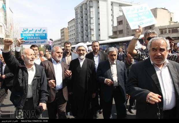 تهران؛ راهپیمایی در محکومیت تجاوز به یمن