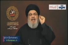 سید حسن نصرالله : خطاب به صهیونیست ها می گویم که در دفاع از لبنان هیچ خط قرمزی نمی شناسیم