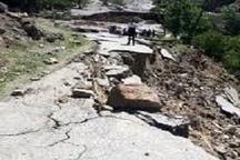 رانش زمین در شهرستان الیگودرز و خسارت به جادههای منطقه  نگرانی از احتمال زیر آب رفتن ۴ روستا