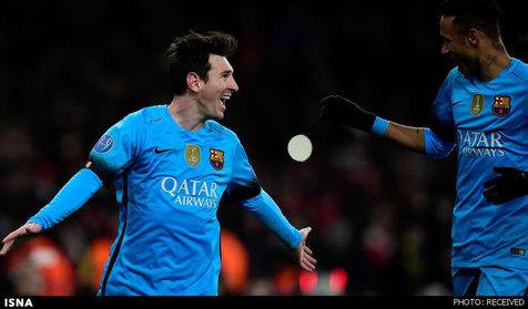 مسی ۱۰ هزارمین گل بارسلونا را به آرسنال زد
