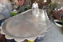 بزرگترین سینی مسی دنیا در زنجان ساخته شد
