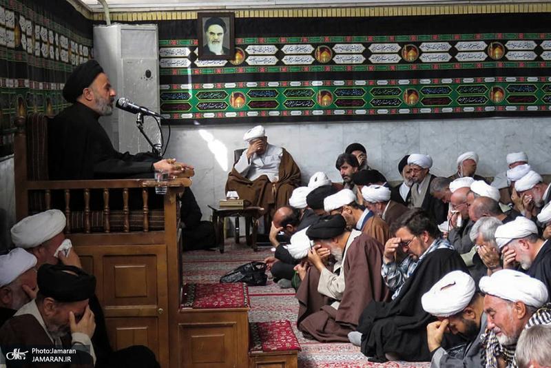 مراسم عزاداری شهادت حضرت امام حسن عسکری(ع) در دفتر آیت الله العظمی صانعی