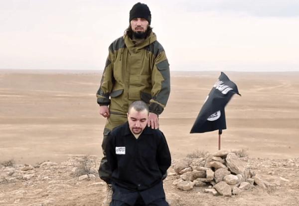داعش افسر اطلاعاتی روسیه را سر برید + تصاویر