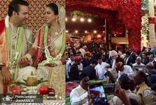 عکس/ کلینتون در جشن ازدواج دختر ثروتمندترین سرمایه دار هند